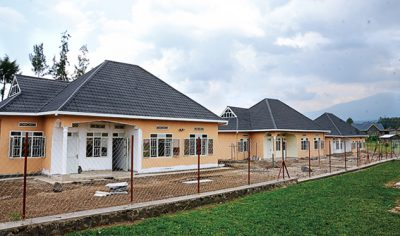 One of the inaugurated housing units in Musanze district
