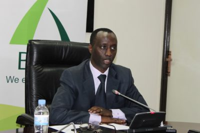 Alex Kanyankole, CEO, during the press conference to unveil EGF.