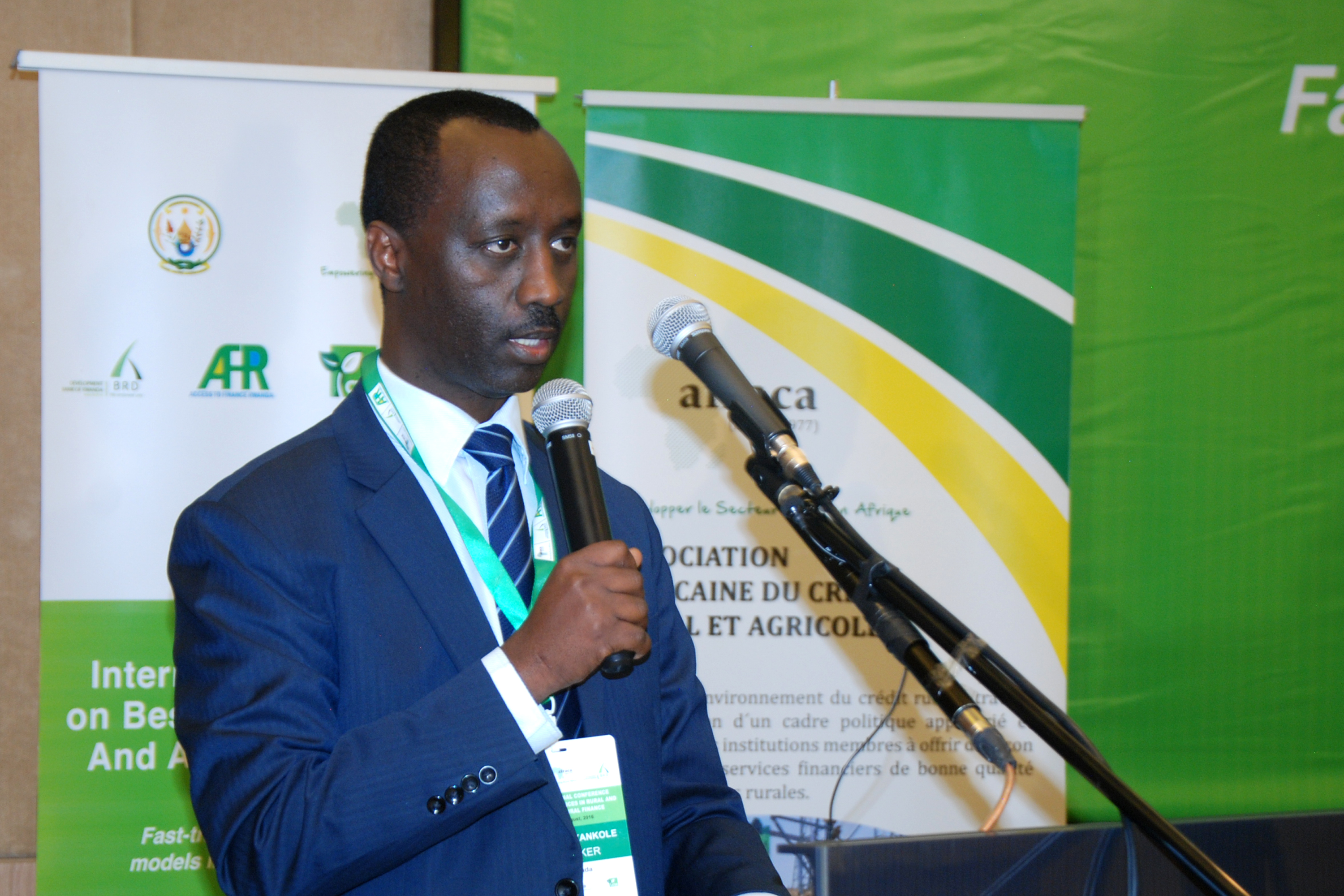 BRD's Kanyankole makes his key note opening speech this morning at the AFRACA conference